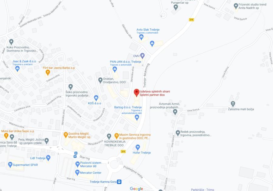 spletni partner - zemljevid lokacije